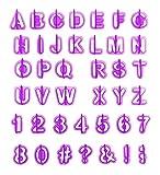 ilauke Alphabet Nombre Découpoirs Emporte-pièces Pastiques pour Décoration de...