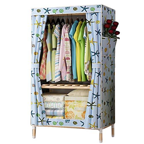 Großer Raum Einfacher Kleiderschrank aus massivem Holz Oxford Stoff Schrank faltender zerlegbarer tragbarer Kleiderschrank Einfache Installation (Color : A)