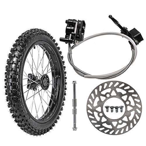 Best Price TDPRO Front 70/100-17 Wheel Tire and Rim With 15mm Bearing & Brake Disc Rotor & Hydraulic...