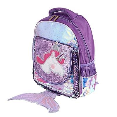 ABOOFAN 1Pc Creativo Sirena Unicornio Diseño Mochila Preciosa Mochila Escolar Mochila para Niños