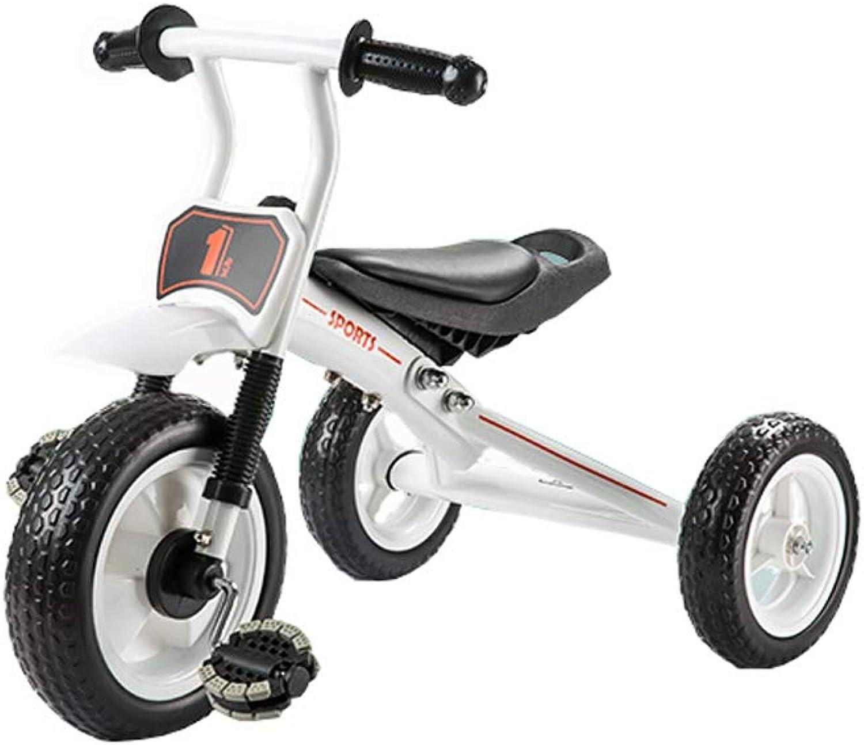 punto de venta de la marca Triciclo de bebé bebé bebé infantil Pedal de luz portátil para montar la diapositiva de doble uso 2-3-4-6-8 años Sunshine (Color   blancoo)  precios mas baratos