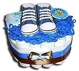 Tarta de pañales mágica con zapatos para niño o neutro, regalo para baby...
