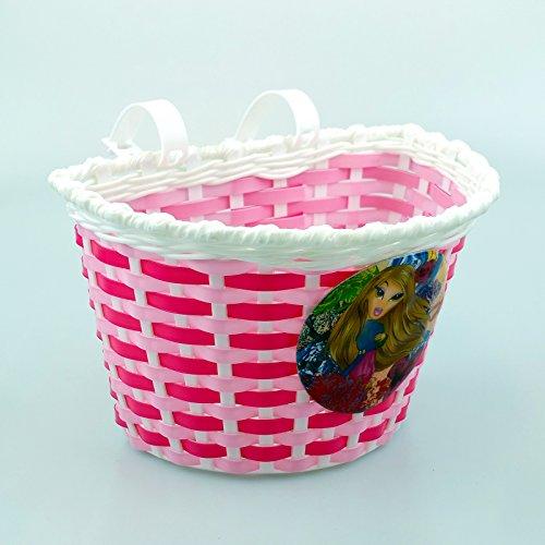 Gadget Zone UK® Fietsmand voor kinderen - Aantrekkelijke bloemenontwerpen | Sterk geweven kunststof | Eenvoudig te bevestigen/los te maken met meegeleverde klikbandjes