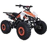 X-PRO Thunder 125cc 125cc ATV Quad Youth 4 Wheeler ATVs Adults ATV 4 Wheelers ATVs Quads Big 19'/18' Tires-Orange