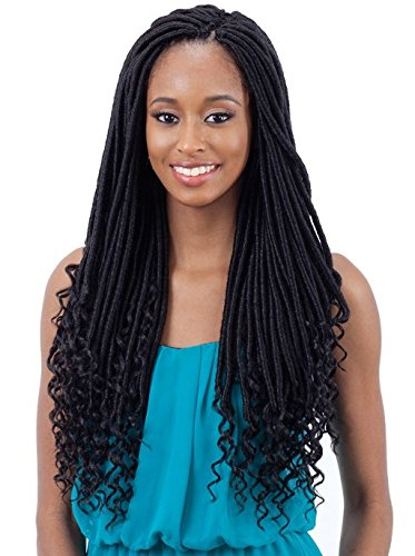 Freetress Synthetic Crochet Pre-Looped Braid - STRAIGHT GODDESS LOC 18' (OM3T3027)
