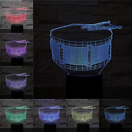 Nur 1 Band Drum 3D-Licht oder farbwechselndes Nachtlicht n Present Party Atmosphere Rock Lamps