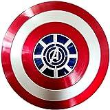 Getrichar Escudo del Capitán América, Escudo de Cosplay para Adultos, Traje de Disfraz de superhéroe para niños, Juguete de Cosplay para niños de 32 cm