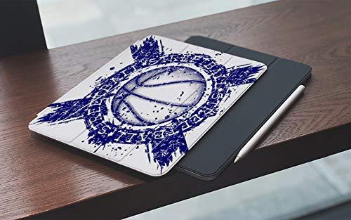 Funda para iPad 10.2 Pulgadas,2019/2020 Modelo, 7ª / 8ª generación,Pelota de baloncesto en acción Deportes Recreación Deportista Atleta Grunge Ataque B Smart Leather Stand Cover with Auto Wake/Sleep