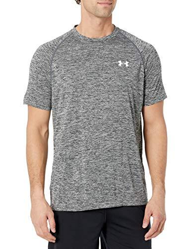 Under Armour Ua Tech Ss Tee, Camiseta De Fitness Hombre, Gris (Black Heather), M