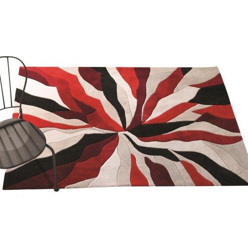 Flair Rugs Teppich Infinite Splinter Handtuft Teppich, 160x 220cm, rot
