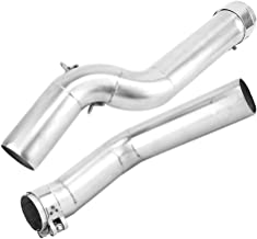 Duokon Modification Exhaust Muffler Pipe for CBR600RR 05-14 51mm/2.0inch (Connect to 48-51mm pipe) Stainless Steel 2Pcs Motorcycle Exhaust Middle Link Pipe