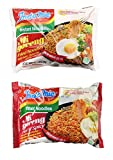 Indomie Mi Goreng Instant Halal Stir Fry Noodles Original and Hot & Spicy Bundle, 10 counts total