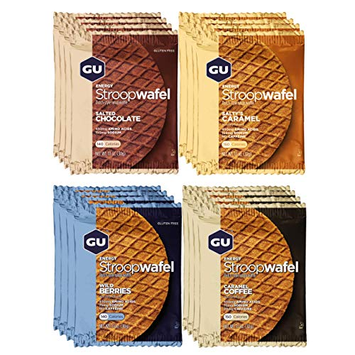 GU Energy Stroopwafel Sports Nutrition Waffle 16Count Assorted Flavors