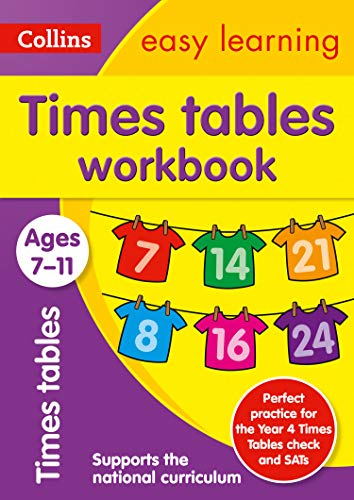 Times Tables Workbook Ages 7-11: Ideal for home learning (Collins Easy Learning KS2)