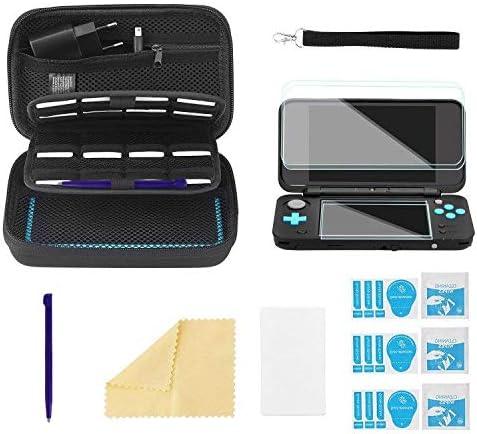 Bestico 4 in 1 Étui pour Nintendo New 2DS XL Accessoire Kits, Housse de Transport pour Nintendo DS(New 3DS XL/3DS/3DS...
