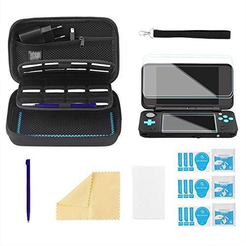 Bestico Funda Accesorios Kits para New Nintendo 2DS XL,Funda