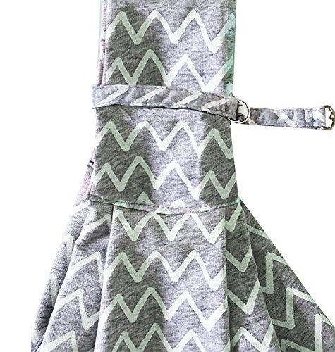 TIGER MAMA Reversible Pet Sling Carrier for Pets Up to 12+ lbs (Adjustable Shoulder Strap Version) 6