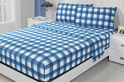 Colchas Concord O298MUL Juego de Sabanas Franela Thermosoft Matrimonial, Azul
