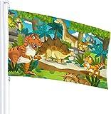 N/A USA Wächter Fahne Banner Garten-Flaggen Tier-Dinosaurier farbecht Erwärmung Hof für Urlaub Terrasse Jahrestag Dekoration 91,4 x 152,4 m