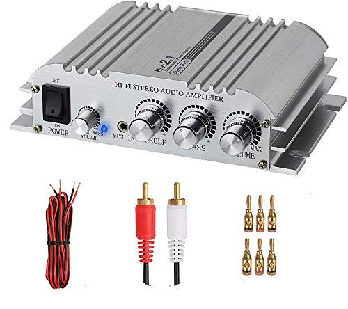 eSynic Mini Amplifier Hifi 2.1 Audio Power Digital Stereo AMP Class D...