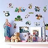 HGFJG Stickers Muraux Tasse Autocollants Aller Boîte Pokemon Coffre Décoration PicturerChambre D'Enfants Dessin Animé Ordinateur Portable Décors