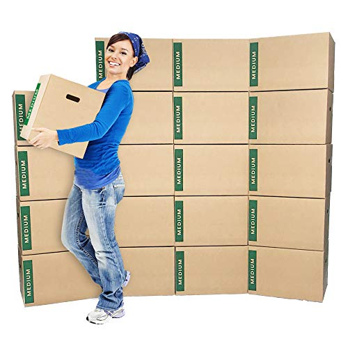 Medium Moving Boxes (20-Pack) - Brand: Cheap Cheap Moving Boxes