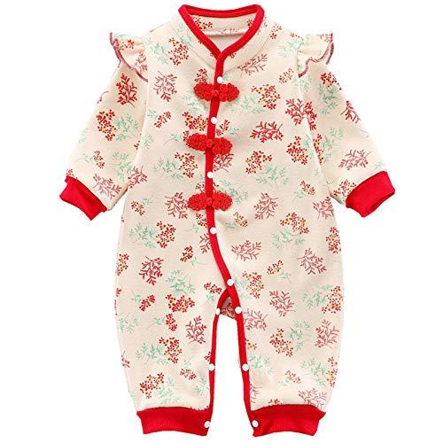 RUXIYI - Mono de algodón para bebé de 2 a 18 meses Rosa. 9-12 Meses