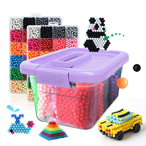TGRBOP Handmade DIY toys Package Water Soluble Puzzle Kid's Toy brain game Creative toys Water-Soluble Beans Creative Water Fuse Beads Kit Paste Painting Material