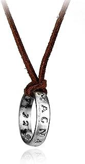 BANAMANA Cord Catena monili in Argento Placcato in Pelle Collana Nathan Drake Lunga Collana Accessori Costume Ornament