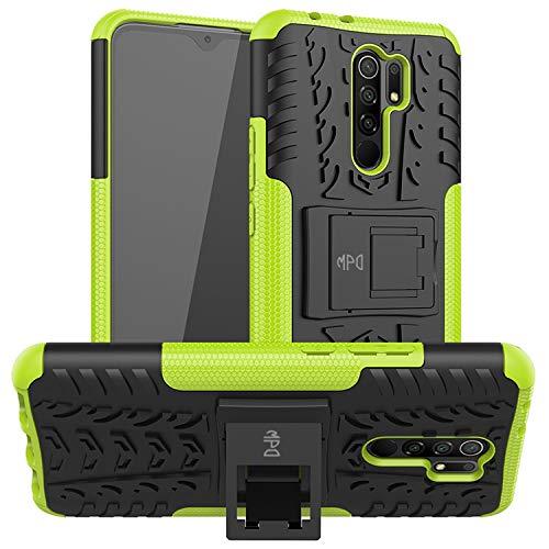 Max Power Digital Funda para Xiaomi Redmi 9 con Soporte Protección 360 Grados 2 en 1 Carcasa Dura Resistente Antigolpes Heavy Duty Rugged Armor Case (Xiaomi Redmi 9, Verde)