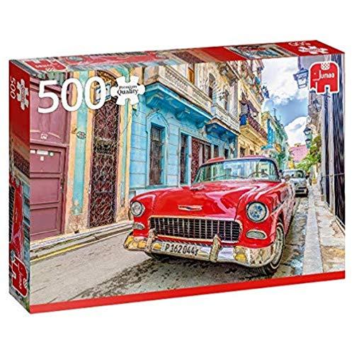 Jumbo- Premium Collection-Puzzle da 500 Pezzi, Motivo: Havana, Cuba, Multicolore, 18803
