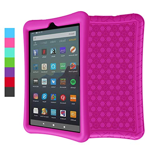LEDNICEKER Silicone Case for for All-New Fire 7 Tablet (9th Generation - 2019 Release) - Anti Slip ShockProof Kids Friendly Case for Amazon Fire 7 2019 & 2017 (7 Inch Display), Rose