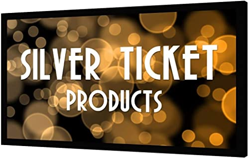 Silver Ticket Products STR Series 6 Piece Home Theater Fixed Frame 4K / 8K Ultra HD, HDTV, HDR & Active 3D Movie Proj...