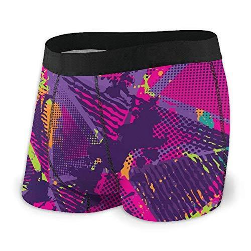 XCNGG Calzoncillos de Ropa Interior para Hombres Calzoncillos Tipo bóxer Men's Boxer Briefs Abstract Urban Seamless Pattern, Grunge Texture Background