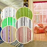 SAVFY New Dew Drop Beaded Hanging String Partition Divider 90x200cm Wall Door Curtain with 5 rows of beads (Available in Mutiple Colors)