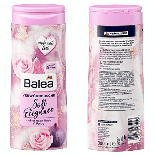 Balea - Cremedusche Soft Elegance, 1x 300 ml (vegan/ohne Aluminiumsalze)