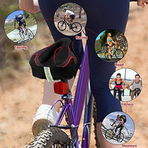 YINTAI Bike Seat Covers Gel-Bicycle Saddle Cushion with Memory Foam for Women Man