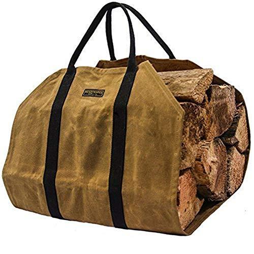 薪トートバッグ 薪バッグ ログキャリー 帆布 暖炉・薪ストーブ用品 持ち運び用 アウトドア キャンプ Fire 暖炉スト