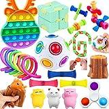 Yetech Juguetes Sensoriales Kit,19PCS Set De Juguetes Sensoriales,Juguetes Antiestrés Sensorial de Explotar Burbujas,Juguetes contra el estrés y la ansiedad para niños y Adultos, TDAH