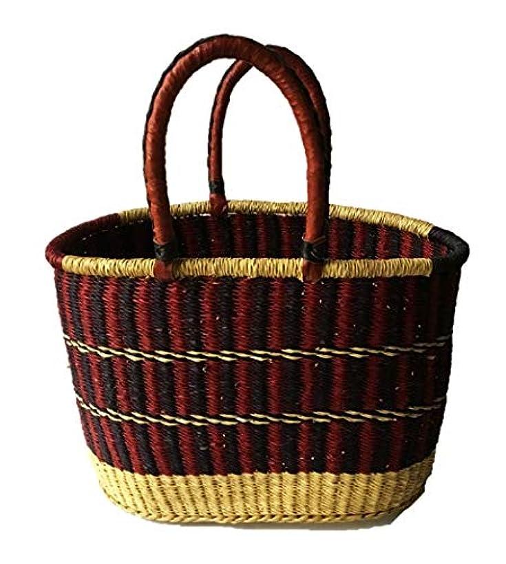 Medium African Oval Ghana Bolga Basket | Picnic Basket Magazines|Shopping - Meduim: 15