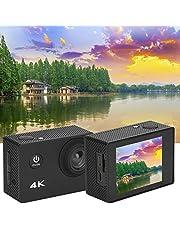 DAUERHAFT Digitale videocamera groothoek-actiecamera voor buitenactiviteiten.