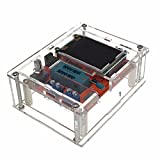 iHaospace Fully Assembled with Acrylic Case Multifunctional LCD GM328 Transistor Tester Diode Capacitance ESR Voltage Frequency Meter PWM Square Wave Signal Generator
