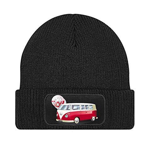 VW Camper Van Split Screen bus Volkswagen zwarte beanie gebreide muts -gebreide 194