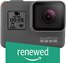 GoPro HERO5 Black Waterproof Digital Action Camera w/ 4K HD Video & 12MP Photo (Renewed)