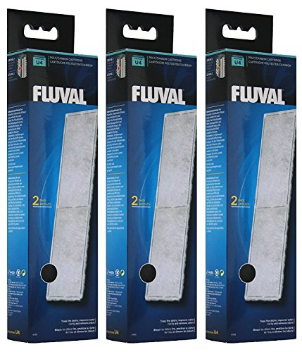 Fluval A492 Polyester- / Aktivkohle-Filtereinsatz Innenfilter U4 (3 x 2 Stück)
