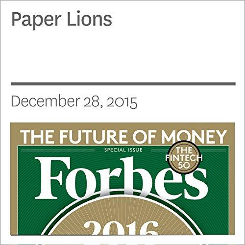 Paper Lions audiobook cover art
