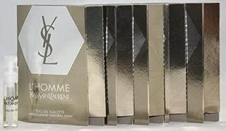 YSL Yves Saint Laurent L'HOMME Eau de Toilette EDT Cologne for Men ~ .05 fl. oz. / 1.5 ml Carded Sample Spray Vial x 5