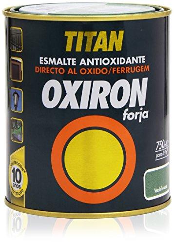Titan - Esmalte antioxidante - Oxiron forja, color verde - 750 ml