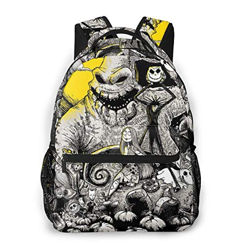 Boys Grils Backpack Back to School Gift - The Nightmare Before Christmas Carry On Bag School Shoulder Book Bags Travel Hiking Daypack, Gym Outdoor Hiking Bag Laptop Book Rucksack