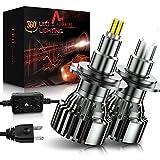 AUXIRACER Lampadine H7 LED Auto, 360 °CSP 60W 6000K 16000LM IP65 - Kit Lampada Sostituzione per Alogena Lampade,2 Lampadine